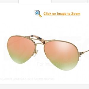 Tory Burch Aviator Sunglasses with Pink Lenses